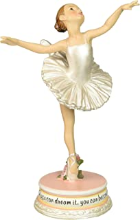 Ballet Collection Joseph's Studio Exclusive Dancing Ballerina Figurine with The Verse If You Dream It, You Can Become It, 7-Inch
