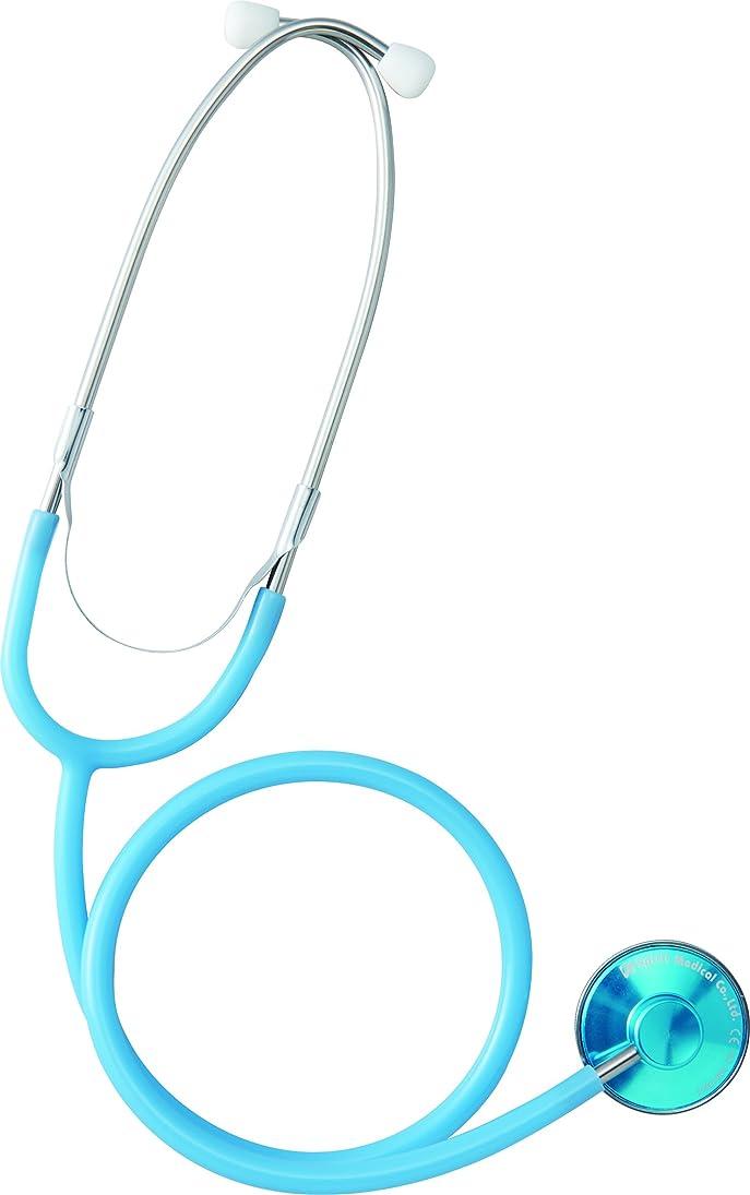盗難グレード識別聴診器 エントリーモデル エコノミーS CK-A603AT アクアブルー Spiritmedical