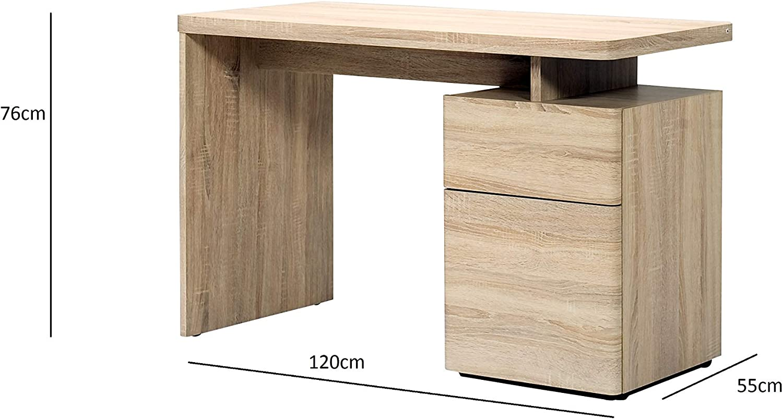 Schreibtisch mit 1 T/ür und 1 Schublade Marke -/Movian Ohrid Sonoma Eichen-Effekt 120/x/55/x/76/cm