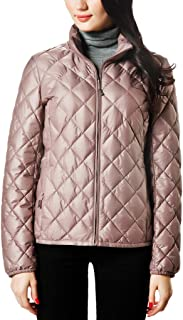 Women Packable Down Quilted Jacket Lightweight Puffer Coat