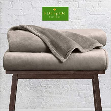 Kate Spade New York Queen Fleece Blanket, 98 X 92 in, Brown By Kate Spade New York