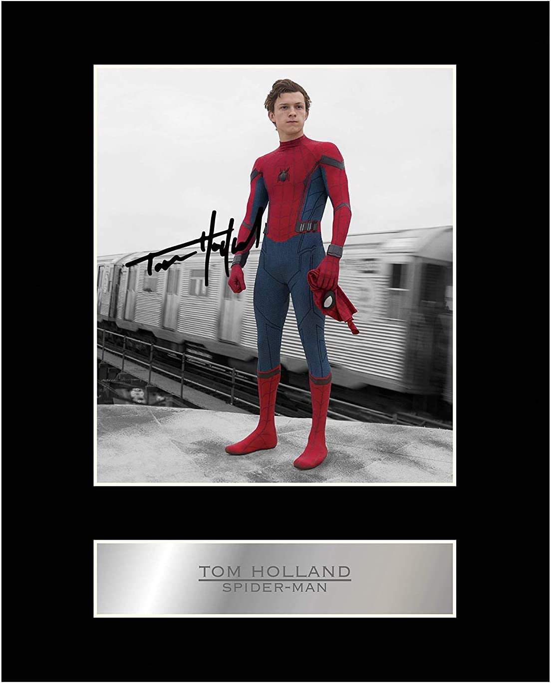 Tom Holland Signed Mounted Branded goods Photo #05 Display Printed Cheap mail order shopping Spider-Man