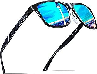 Men's Retro Metal Frame Driving Polarized Sunglasses Al-Mg Metal Frame Ultra Light
