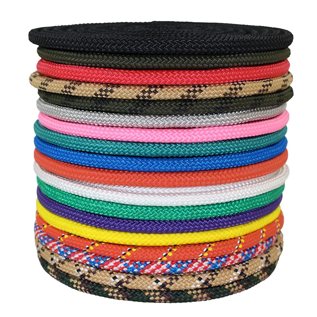 SGT KNOTS Nylon Rope Utility Rope (5/8 inch) Polypropylene Sheath - Moisture Resistant - for Crafts, Cargo, Tie-Downs, Marine, Camping, Swings (50 ft - Stars N Stripes)
