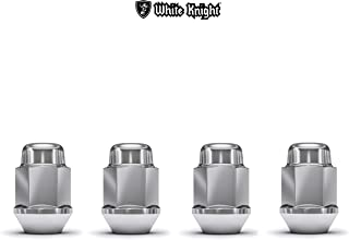 White Knight 1707S-4 Chrome M12x1.50 Bulge Acorn Lug Nut, 4 Pack