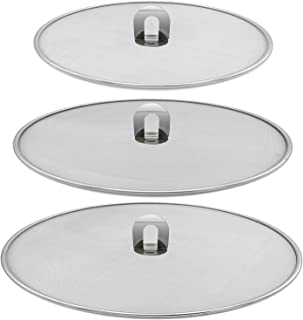 """Amestar Grease Splatter Screen For Frying Pan Cooking - Stainless Steel Mesh Splatter Guard Set of 9.8"""", 11.5"""" and 13"""" inc..."""