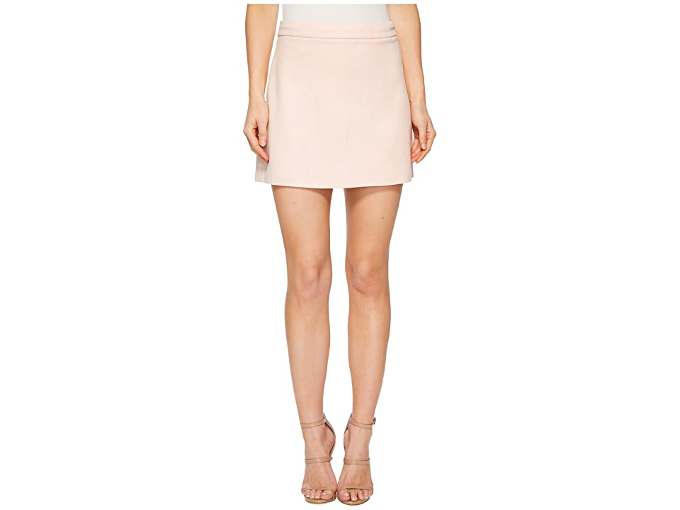 Jack by BB Dakota Amil Faux Suede A-Line Skirt (Dusty Rose) Women