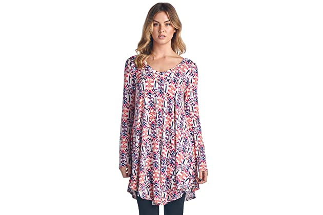 10ffb27856c Popana Women's Tunic Tops for Leggings Long Sleeve Shirt Plus Size Made in  USA