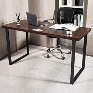 AMOAK Computer Desk, Vintage Writing Desk, Home Office Desk, PC Laptop Table, Environmentally Friendly Sheet, and Steel Frame, 55 inches