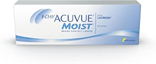 1-Day Acuvue Moist Contact Lens - 30 Pack, Clear, -5