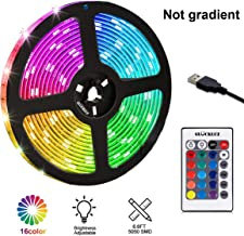 2 Meters LED Strip Light, TV Bias Backlighting Kit for HDTV Desktop PC Decoration, Waterproof RGB Monitor Lights with Remote-16 Colors USB Powered