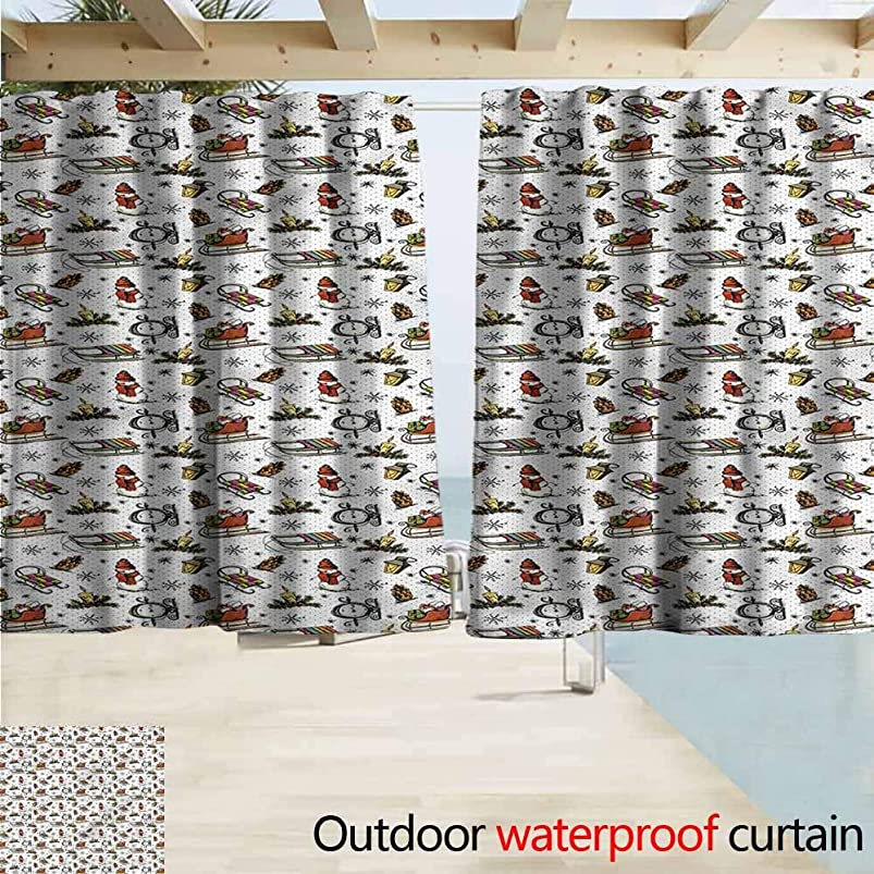MaryMunger Outdoor Blackout Curtains Christmas Cartoon Snowman Retro Blackout Draperies for Bedroom W55x45L Inches mjidumap787659