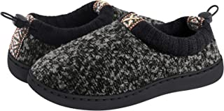 Womens Slippers Memory Foam Comfy House Shoes for Women Cozy Coral Fleece Lined Black Size 5