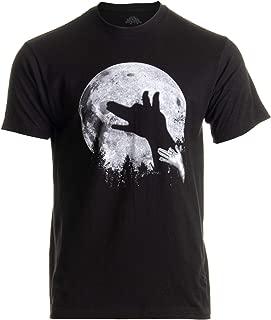 Wolf Shadow Puppet | Unique Moon Outdoor Hike Camp Funny Fun Men Women T-Shirt