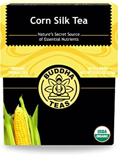 Buddha Teas Organic Corn Silk Tea | 18 Bleach-Free Tea Bags | Supports Urinary Tract Health | Natural Source of Vitamins a...
