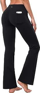 BUBBLELIME 29/31/33/35 3 Styles Women High Waist Bootcut Yoga Pants Basic/Back Pocket/Straight Leg Soft Workout Flare