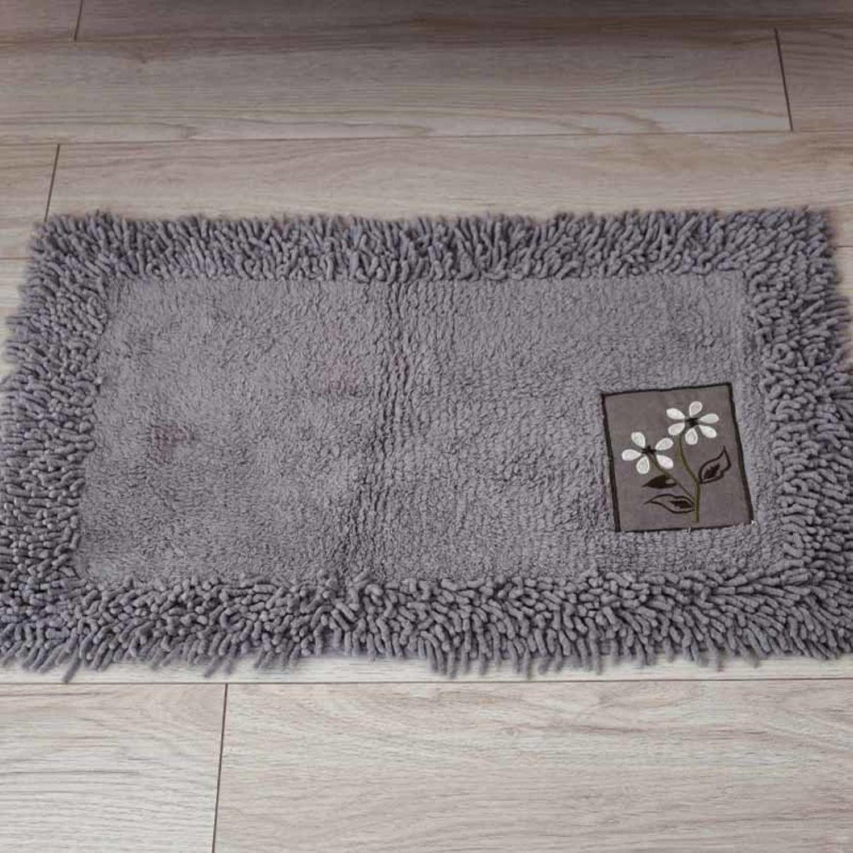 Introduction to Solid color dust Cloth Floor mats Plush Bedroom Door mat Foot Pad Bathroom Bathroom Water-Absorbing mats-D 45x120cm(18x47inch)
