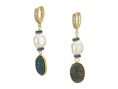 SHASHI Harlow Drop Earrings (Gold Pearl) Earring