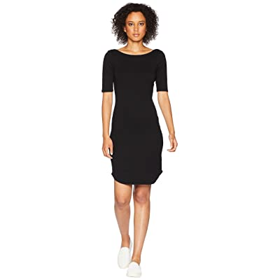 Three Dots Heritage Knit Dress (Black) Women