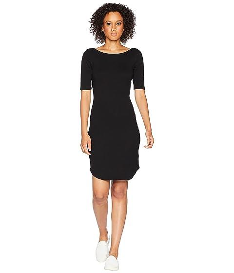 THREE DOTS Heritage Knit Dress, Black