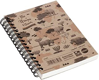 RHINO Stationery A6 Twinwire Notebook   Wirebound Notebooks   200 Pages   Recycled Notepad  Journal Notebook