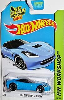 1 X 2014 Hot Wheels Hw Workshop 2014 Corvette Stingray (Blue)