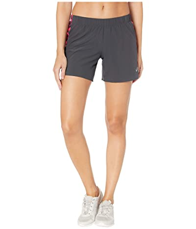 ASICS 5.5 Shorts (Graphite Grey/Hex Type Laser Pink) Women