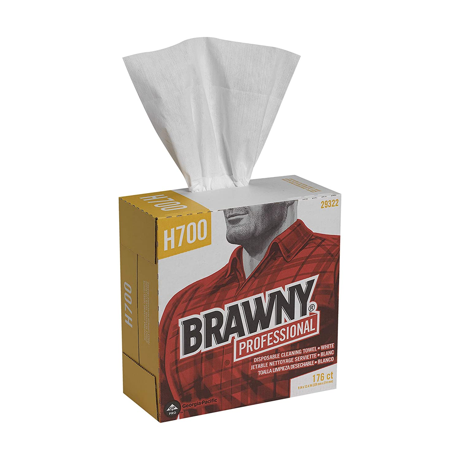 Brawny Professional Heavyweight Disposable Shop Towels by GP PRO
