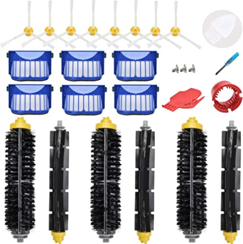 LOVECO Replacement Parts Kit for iRobot Roomba 645 655 675 Robotics,6 Filter,8 Side Brush,3 Bristle and Flexible Beat...