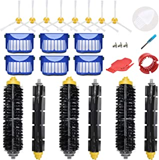 LOVECO Replacement Parts Kit for iRobot Roomba 645 655 675 Robotics,6 Filter,8 Side Brush,3 Bristle and Flexible Beater Brush