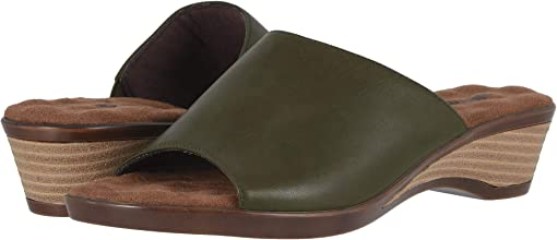 Dark Olive Leather