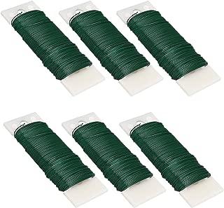 Livder 6 Pack 228 Yards 22 Gauge Green Flexible Paddle Wire for Crafts, Wreaths, Garland and Floral Flower Arrangements