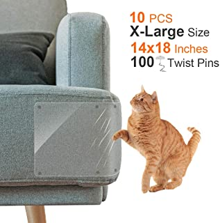 Outkitkit 10 Pack Furniture Protectors from Cats, Furniture Scratch Guards, 14