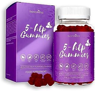 5 Gomitas HTP - 5 HTP Máximo 5 HTP Suplemento con L-Teanina. Magnesio. Vitamina B12. Glicina - 60 Passionfruit Natural 5 HTP Gomitas Alternativas a las Pastillas 5HTP Cápsulas