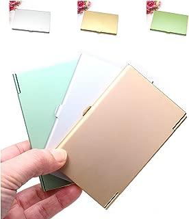 Castuvy Aluminum Alloy, Business Card Holder, Business Card Box, 3 Packs