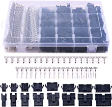 Glarks 1940Pcs 2.5mm Pitch 2/3/4/5/6/7/8/9 Pin Male and Female Plug Housing and Male/Female Pin Header Perfectly Compatible with JST-SM Connector Assortment Kit