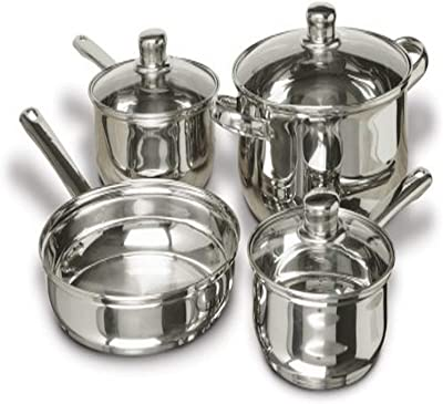 Gibson Home 68166.07 Landon 7-Piece Cookware set, Stainless Steel - Silver