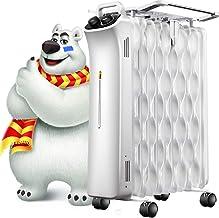 BAODI Radiador de Aceite Calentador de radiador Relleno de Aceite Portátil Mini Control mecánico eléctrico Ajuste de Temperatura Calentador de Espacio Calentador Exterior