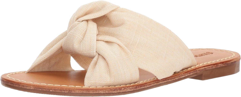 Soludos Woherren Knotted Slide Sandal, Blaush, 6.5 Regular US