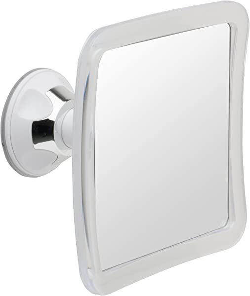 Mirrorvana Fogless Shower Mirror For Fog Free Shaving With Lock Suction Cup Shatterproof And Portable 6 3 X 6 3 Inch