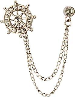 Knighthood Silver Swarovski Wheel Chain Brooch
