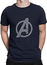 Urban Army Marvel Superhero Avengers Endgame Logo Printed Navy Blue Cotton Round Neck Half Sleeve Tshirts for Men