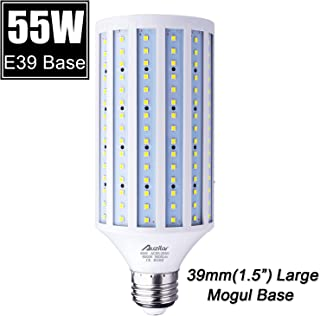 55W LED Corn Light Bulb (E39 Large Mogul Base) 5500Lm 6000K Cool White Daylight, for Metal Halide HID HPS Replacement Garage Parking Lot High Bay Warehouse Street Lamp Lighting 85V-265V
