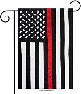 """Briarwood Lane Thin Red Line Garden Applique & Embroidered Flag 12.5"""" x 18"""""""