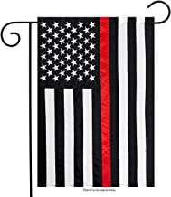 Briarwood Lane Thin Red Line Garden Embroidered Flag Firefighter 12.5