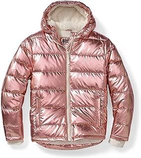 Eddie Bauer Girls' Classic Down Hooded Jacket - Metallic