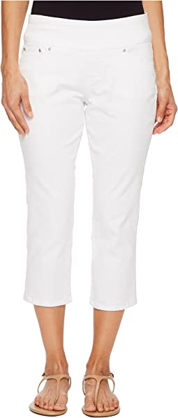 Jag Jeans Petite - Petite Peri Straight Pull-On Twill Crop in White
