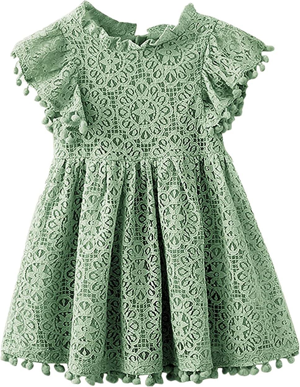2Bunnies Girl Vintage Lace Boho Party Princess Flower Girl Dress