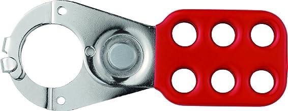 ABUS 33551 1 inch stalen slot off tag uit hasp met beugel vrijstelling en klem - rood
