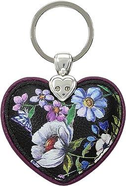 Noir Jardin Heart Key Fob